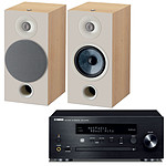 Yamaha MusicCast CRX-N470D Noir + Focal Chora 806 Light Wood