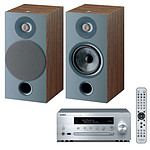 Yamaha MusicCast CRX-N470D Argent + Focal Chora 806 Dark Wood