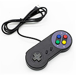 Mando USB para retrogaming Negro(Nintendo Super NES)