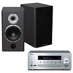 Yamaha MusicCast CRX-N470D Argent + Cabasse Antigua MT22 Noir Satin