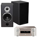 Marantz Melody X M-CR612 Argent/Or + Cabasse Antigua MT22 Noir Satin