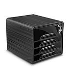 CEP Smoove Secure Bloque de archivo con 4 cajones Negro
