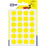 Avery Pastilles autocollantes diamètre 15 mm Jaune x 168