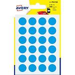 Avery Pastilles autocollantes diamètre 15 mm Bleu x 168