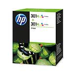 HP 301XL Pack de 2 Cyan, Magenta, Jaune (D8J46AE)