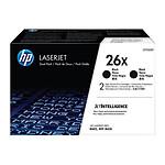 HP LaserJet 26X Noir Pack de 2 (CF226XD)