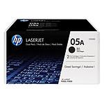 HP 05A Noir Pack de 2 (CE505D)