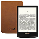 Vivlio Touch Lux 4 Noir + Pack d'eBooks OFFERT + Housse Marron