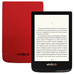Vivlio Touch Lux 4 Noir + Pack d'eBooks OFFERT + Housse Rouge