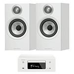 Denon CEOL N10 Blanc + B&W 607 Blanc
