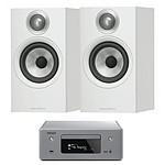 Denon CEOL N10 Gris + B&W 607 Blanc