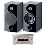 Marantz Melody X M-CR612 Argent/Or + Focal Chora 806 Noir