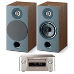 Marantz Melody X M-CR612 Argent/Or + Focal Chora 806 Dark Wood