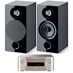 Marantz Melody M-CR412 Argent/Or + Focal Chora 806 Noir