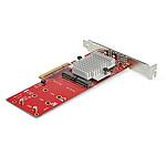 StarTech.com Carte contrôleur PCIe 3.0 x8 vers double SSD M.2 NVMe
