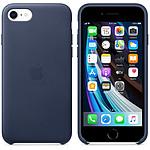 Funda de piel Apple iPhone SE Azul noche