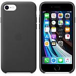 Funda de piel Apple iPhone SE negro