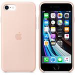 Funda de silicona para el iPhone SE Sand Rose de Apple