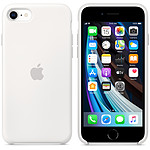 Funda de silicona blanca Apple iPhone SE