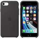 Funda de silicona Apple iPhone SE negra
