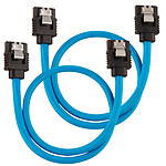 Corsair Câbles SATA gainés 30 cm (coloris bleu)