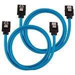 Corsair Câbles SATA gainés 60 cm (coloris bleu)