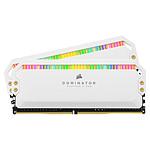 Corsair Dominator Platinum RGB 32 Go (2 x 16 Go) DDR4 4000 MHz CL19 - Blanc