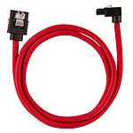 Corsair Câble SATA gainé Premium 60 cm connecteur coudé (coloris rouge)