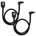 Corsair Câble SATA gainé Premium 30 cm connecteur coudé (coloris noir)