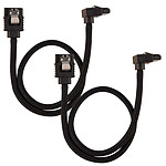 Corsair Câble SATA gainé Premium 60 cm connecteur coudé (coloris noir)