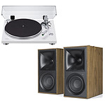 Teac TN-3B Blanc + Klipsch The Fives Noyer