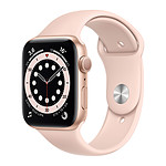 Apple Watch Series 6 GPS Aluminium Gold Bracelet Sport Pink Sand 44 mm