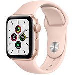 Apple Watch SE GPS Gold Aluminium Bracelet Sport Pink Sand 40 mm