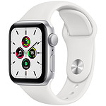 Apple Watch SE GPS Silver Aluminium Bracelet Sport White 40 mm