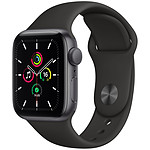 Apple Watch SE GPS Space Gray Aluminium Bracelet Sport Noir 40 mm