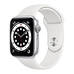 Apple Watch Series 6 GPS Aluminium Silver Bracelet Sport White 44 mm