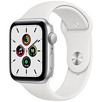 Apple Watch SE GPS Silver Aluminium Bracelet Sport White 44 mm