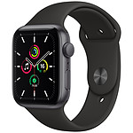 Apple Watch SE GPS Space Gray Aluminium Bracelet Sport Noir 44 mm