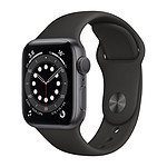 Apple Watch Series 6 GPS Aluminium Space Gray Bracelet Sport Black 40 mm
