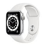 Apple Watch Series 6 GPS Aluminium Silver Bracelet Sport White 40 mm
