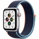 Apple Watch SE GPS + Cellular Silver Aluminium Bracelet Sport Deep Navy 40 mm