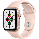 Apple Watch SE GPS + Cellular Gold Aluminium Bracelet Sport Pink Sand 40 mm