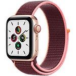 Apple Watch SE GPS + Cellular Gold Aluminium Bracelet Sport Plum 40 mm