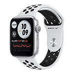 Apple Watch Nike Series 6 GPS Aluminium Silver Bracelet Sport Pure Platinum Black 44 mm