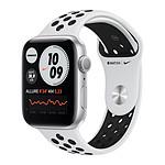 Apple Watch Nike Series 6 GPS Aluminium Silver Bracelet Sport Pure Platinum Black 44 mm