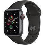 Apple Watch SE GPS + Cellular Space Gray Aluminium Bracelet Sport Black 40 mm