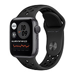 Apple Watch Nike Series 6 GPS Aluminium Space Gray Bracelet Sport Anthracite Black 40 mm