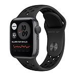 Apple Watch Nike Series 6 GPS Aluminium Space Gray Bracelet Sport Anthracite Black 40 mm