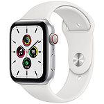Apple Watch SE GPS + Cellular Silver Aluminium Bracelet Sport White 44 mm