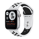 Apple Watch Nike Series 6 GPS Aluminium Silver Bracelet Sport Pure Platinum Black 40 mm